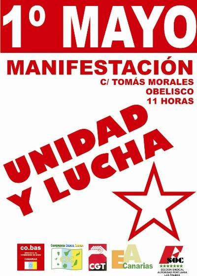 Manifestación 1º de mayo en Las Palmas