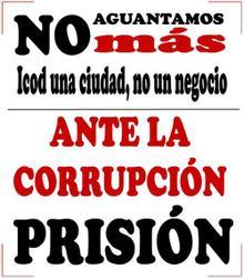 Ante la corrupción, prisión