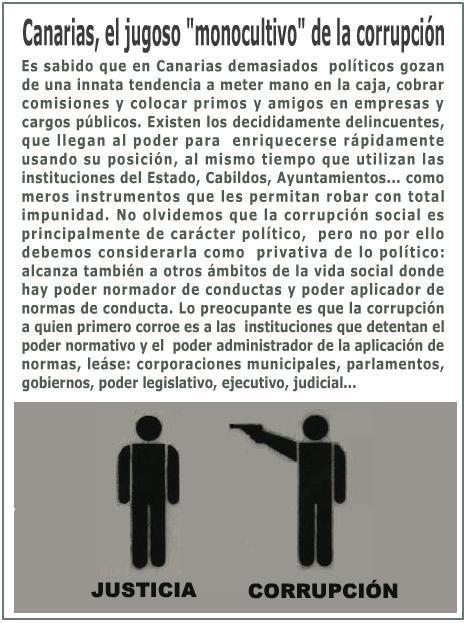En Canarias huele a podrido, a degradación, a chantaje y sobre todo a un desprecio cada día mayor al cumplimiento de las leyes.