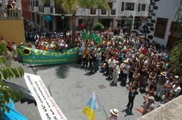 Manifestación contra el Anillo Insular (Icod de los Vinos)