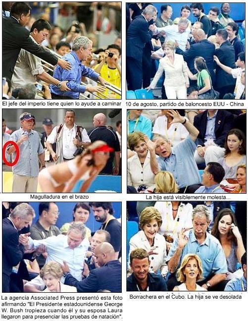 Fotografías muestran a Bush borracho en las Olimpíadas ¿Por qué la prensa no difundió esta noticia?