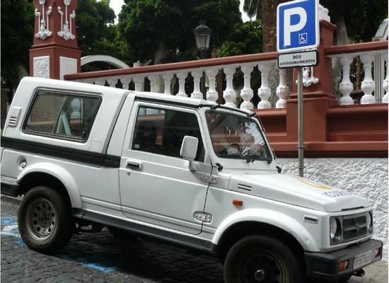 En Icod de los Vinos -municipio de 24.000 habitantes- los aparcamientos para minusválidos se cuentan con los dedos de las manos