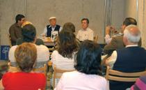 Foto (de izq. a der.) Federico González Ramírez, Roberto Domínguez Lima y el Presidente de DEPACA Rafael Guerra Alemán
