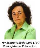 1ª Teniente Alcalde y Concejala de Cultura, Educación, Deportes, Fiestas, Relaciones Institucionales e ICODTESA