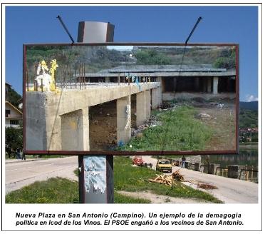 El PSOE engañó a los vecinos de San Antonio
